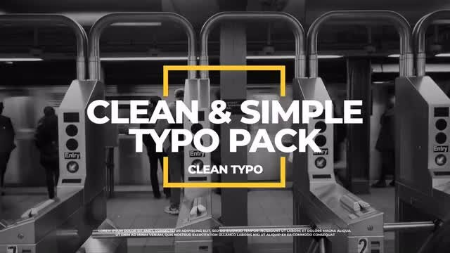 Clean Typography v.2: Premiere Pro Templates