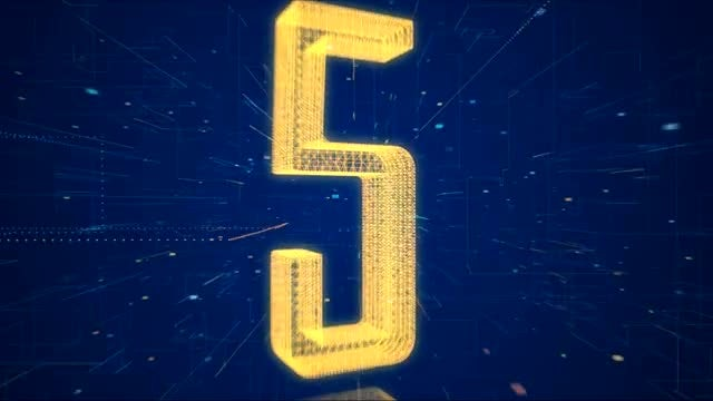 Hi-Tech Digital Space Countdown HD: Stock Motion Graphics