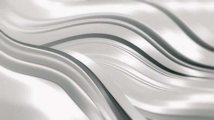 Elegant Silver Waves Background: Stock Motion Graphics