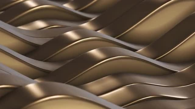 Gold Lines Fields VJ Loop: Stock Motion Graphics