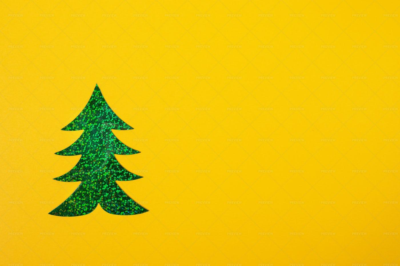 Shinny Paper Christmas Tree: Stock Photos