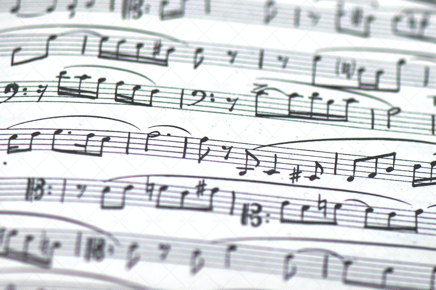 Musical Score: Stock Photos