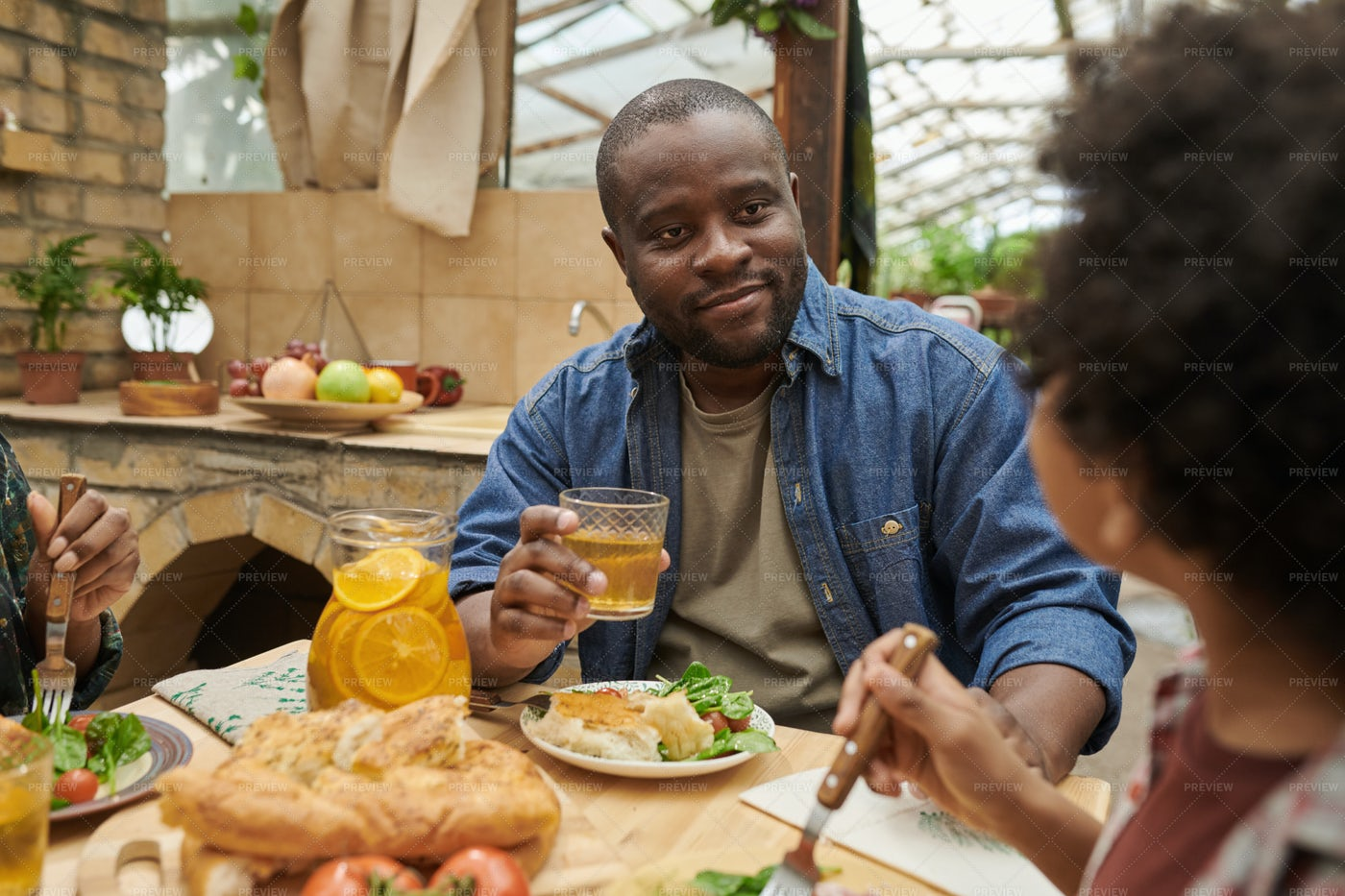 Man Eating At The Table: Stock Photos