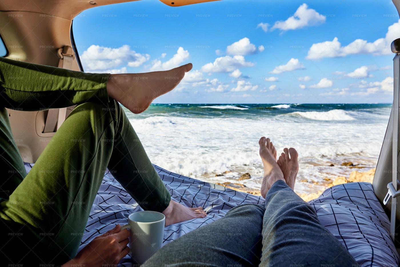 Feet In Front Of Ocean: Stock Photos