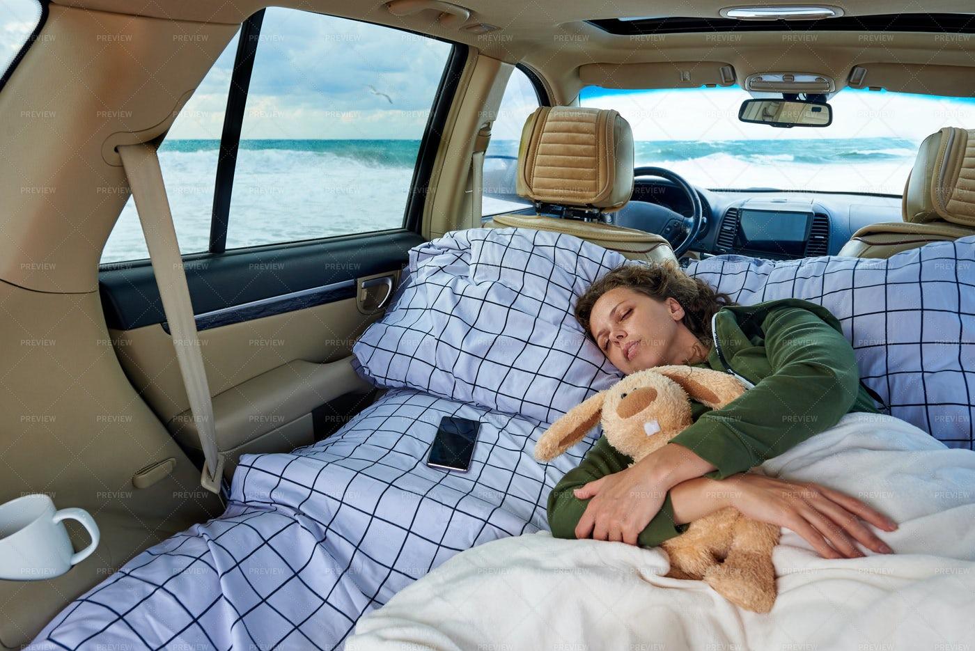Sleeping Next To Ocean: Stock Photos