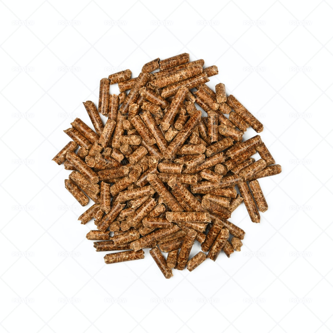 Heap Of Hardwood Pellets: Stock Photos