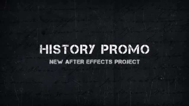 History Promo: After Effects Templates