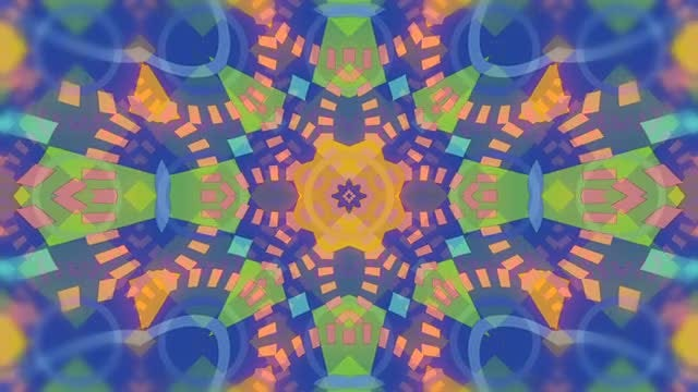 Colorful Kaleidoscope Backgrounds Pack: Stock Motion Graphics
