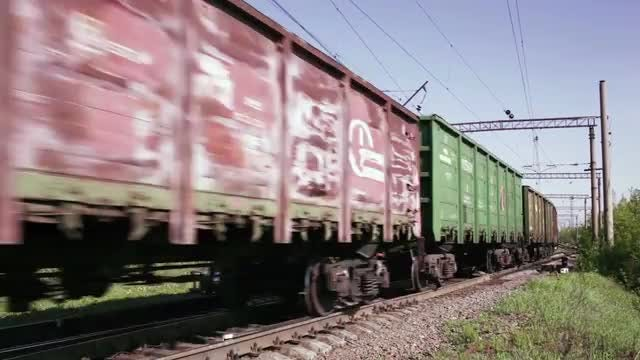 Freight Train Passing Through: Stock Video
