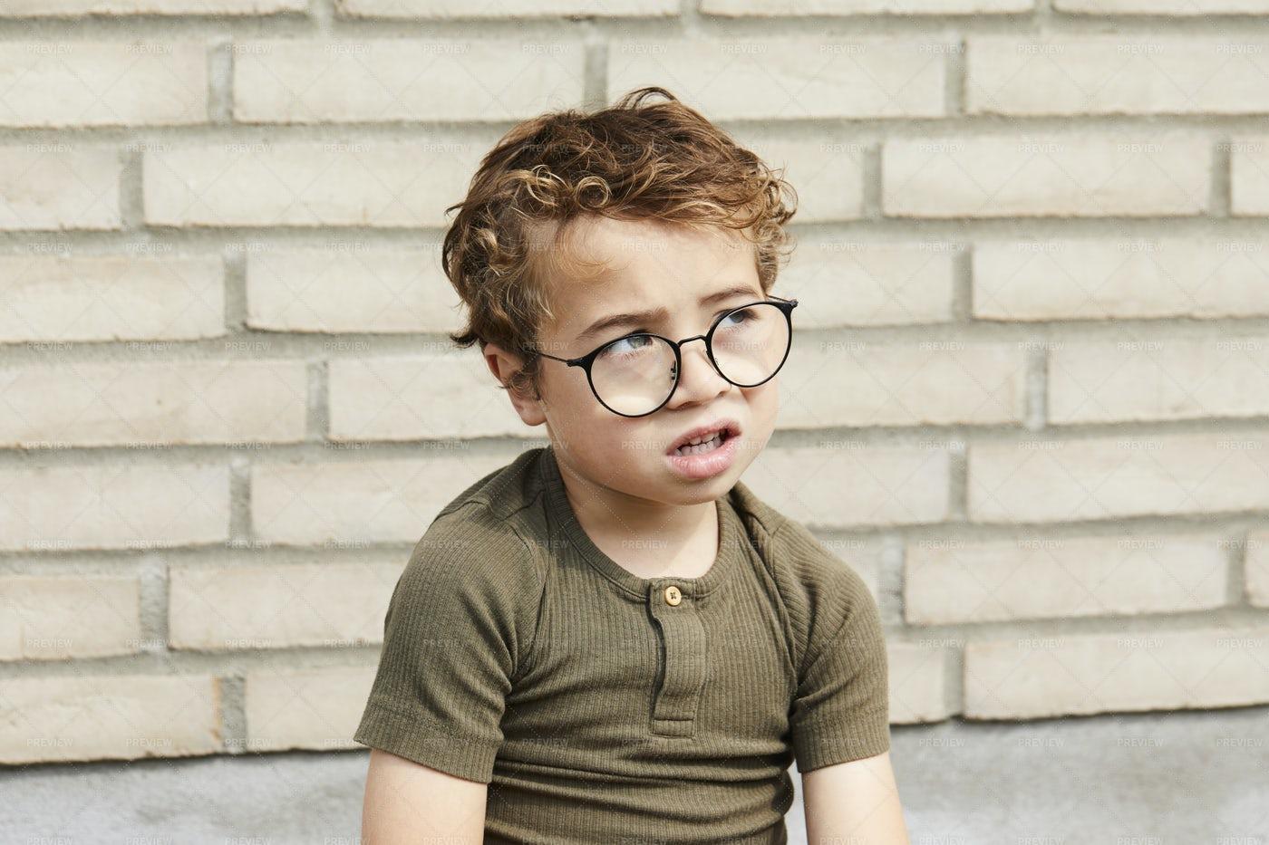 Upset Little Boy: Stock Photos