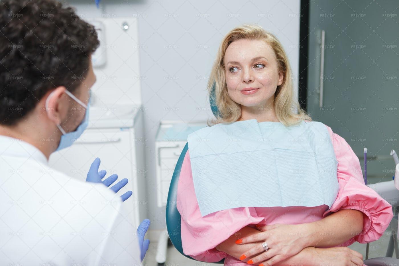Mature Woman At Dentist: Stock Photos