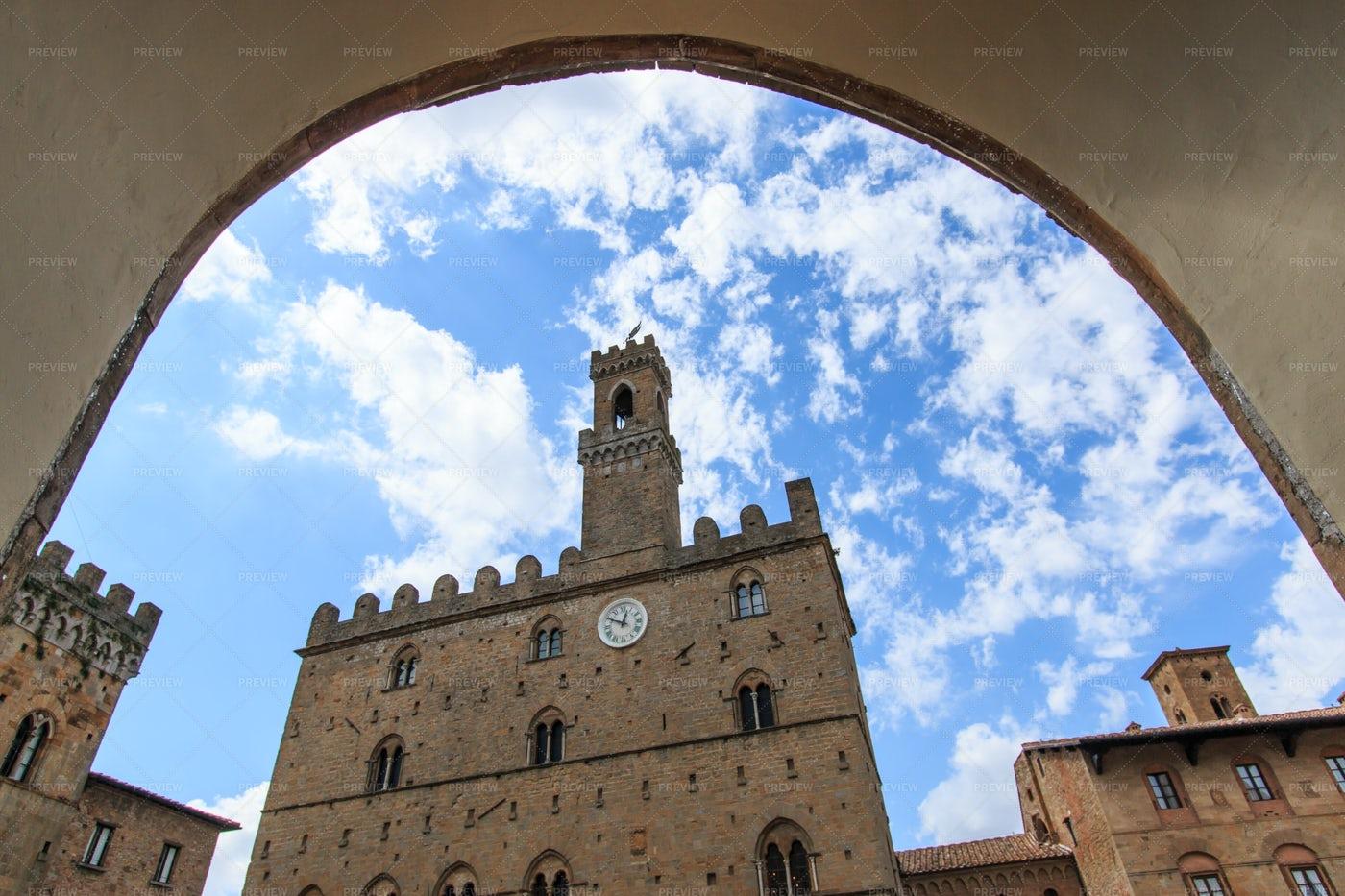 Historic Center Of Volterra In Tuscany: Stock Photos