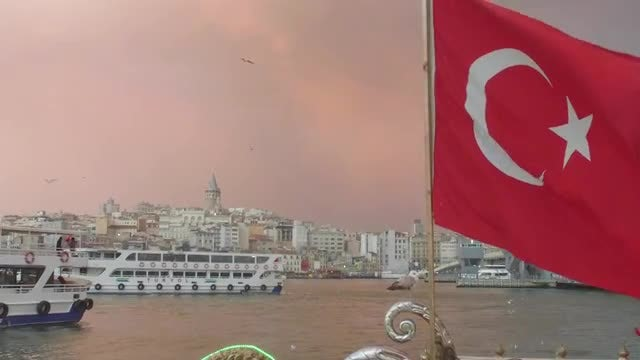 Wide-angle Shot Of Turkish Bay: Stock Video