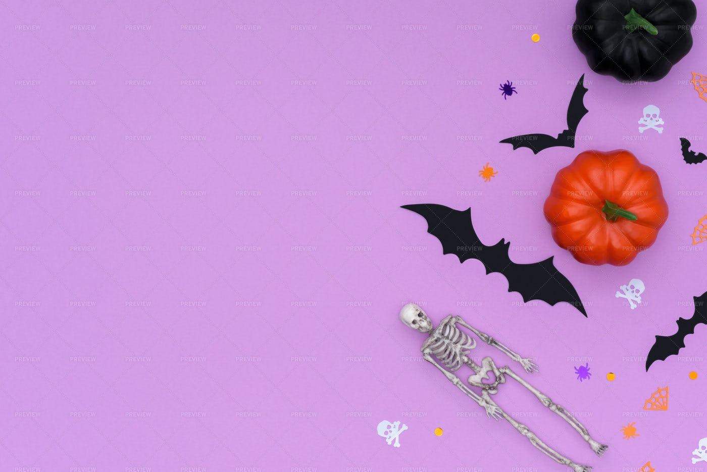 Happy Halloween Concept With Copy Space: Stock Photos