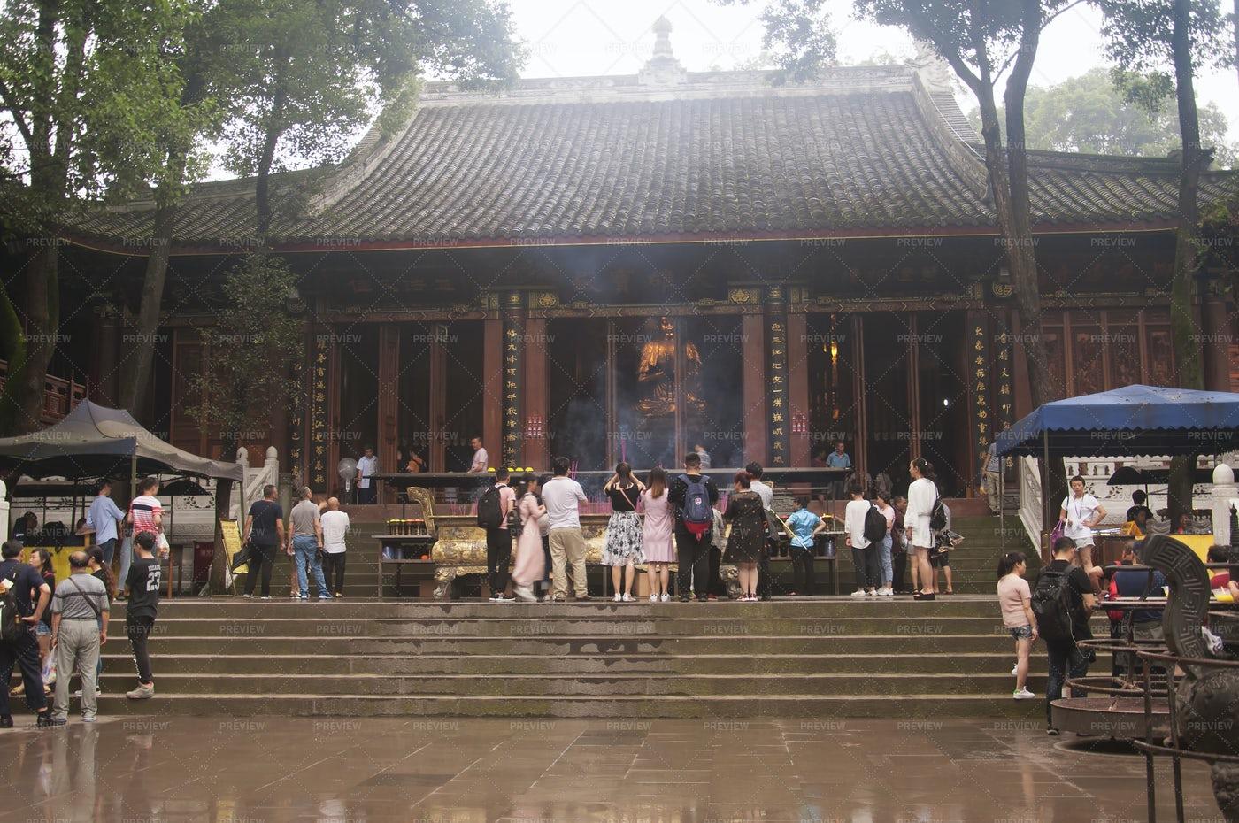 Wuyou Buddhist Temple Leshan China: Stock Photos