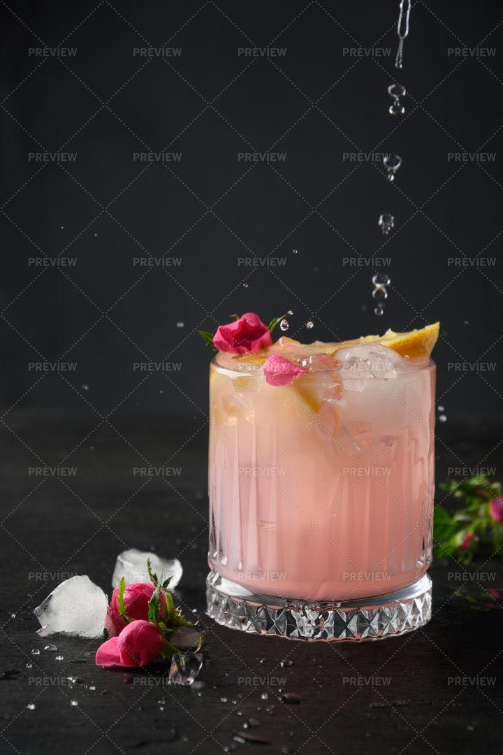 Pink Alcoholic Cocktail: Stock Photos