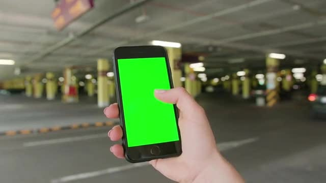 Green Screen Mobile Phone Scrolling: Stock Video