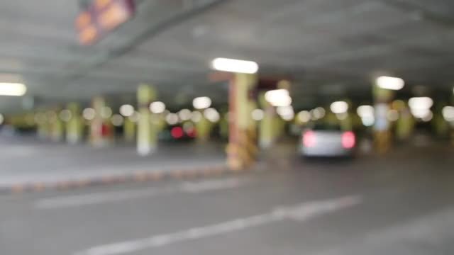 Cars Arriving At Parking Lot: Stock Video