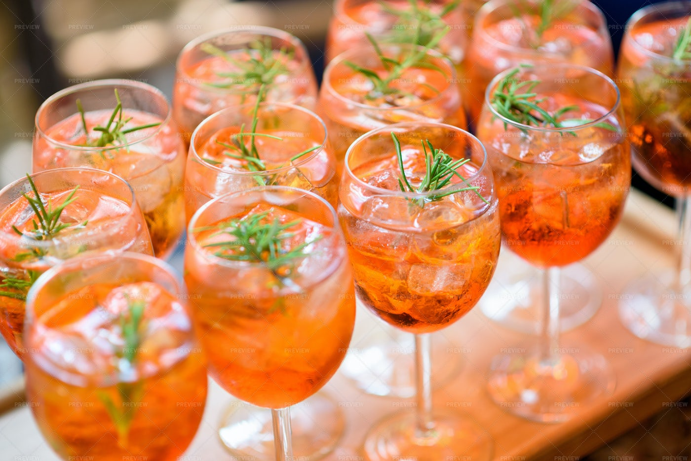Chilled Alcoholic Cocktails: Stock Photos