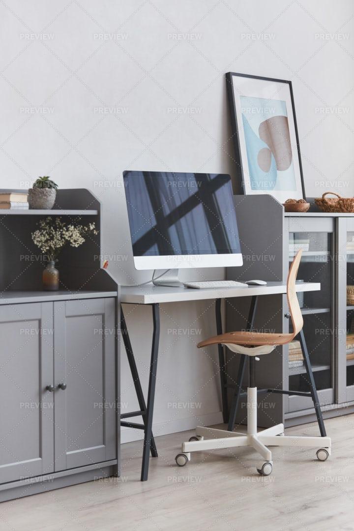 Minimal Home Office Design: Stock Photos