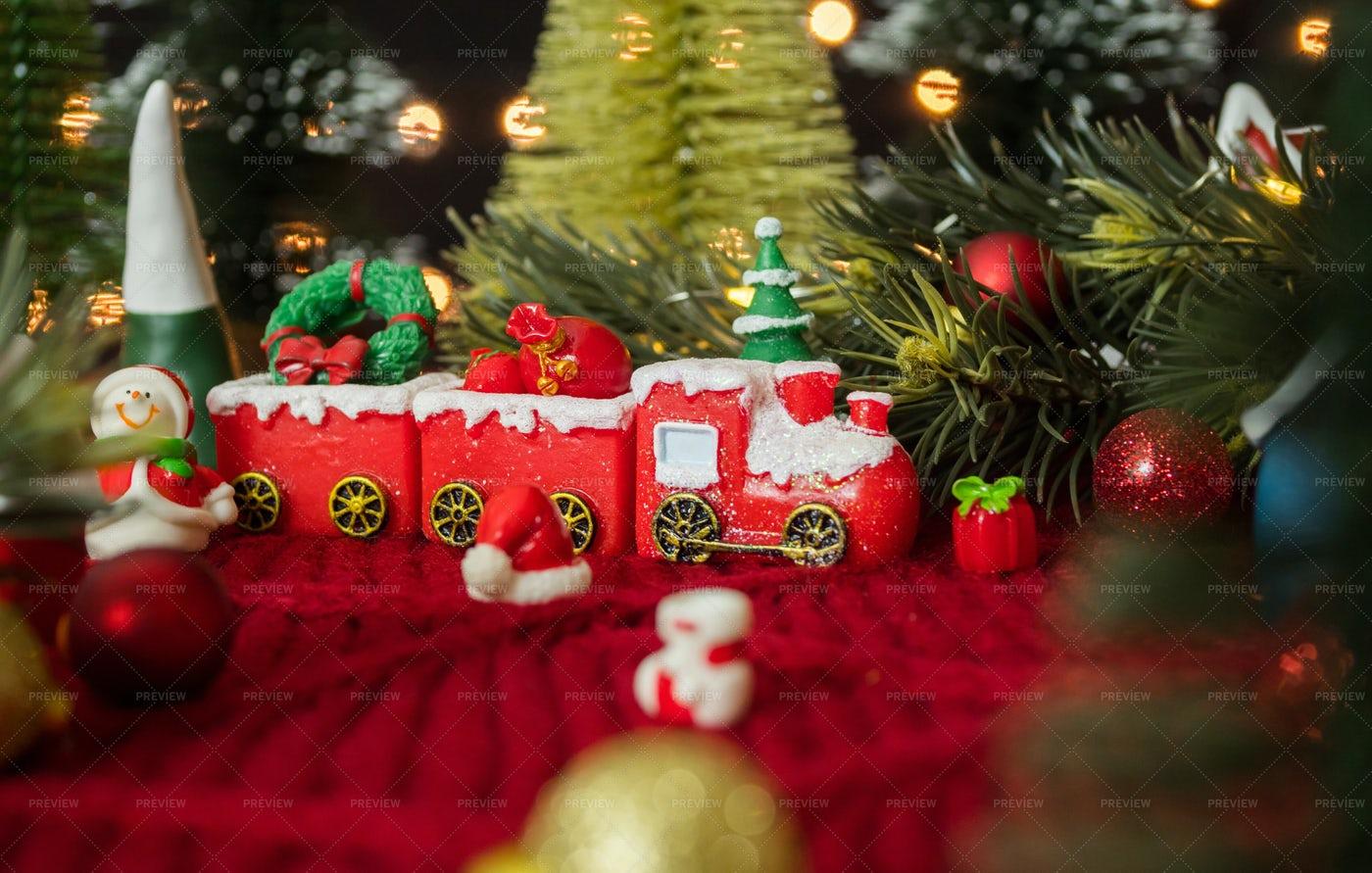 Ornament Christmas Train: Stock Photos