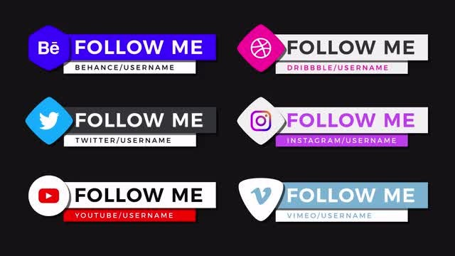 Modern Social Lower Thirds: After Effects Templates