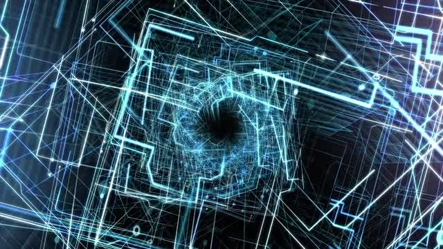 Data Technology Abstract Background: Stock Motion Graphics