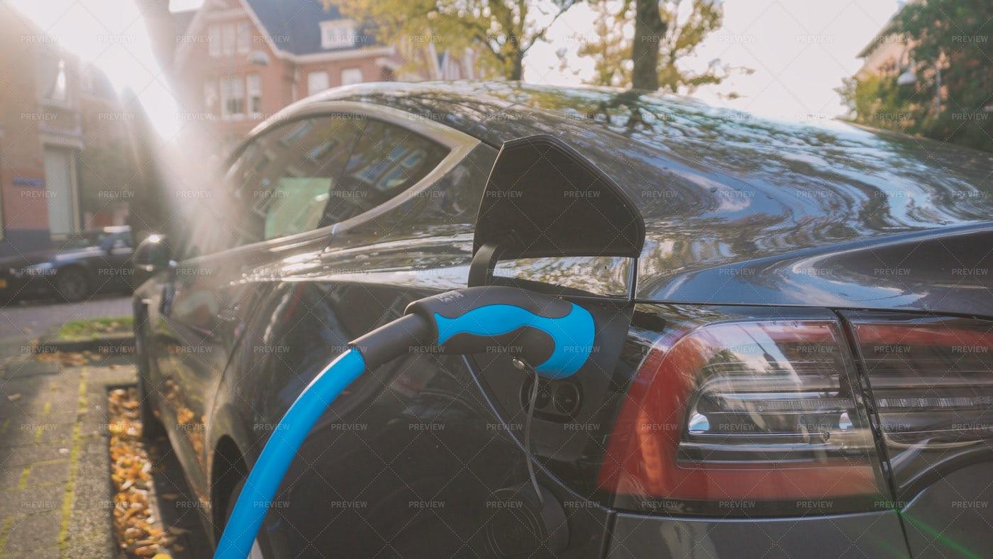 Electro Car Charging: Stock Photos