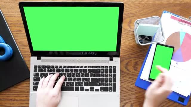 Man Typing On A Laptop : Stock Video