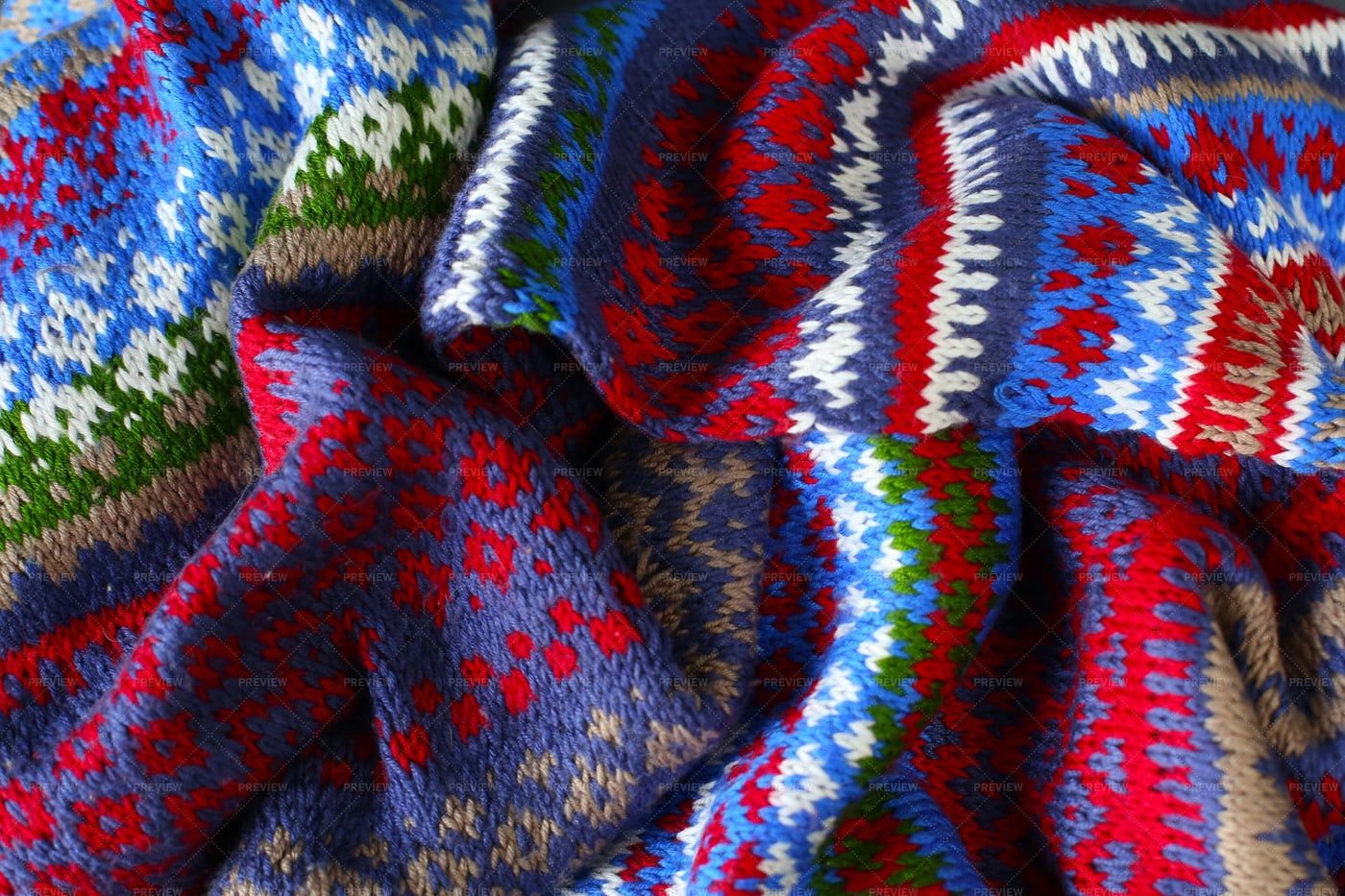 Knitted Pattern Detail: Stock Photos