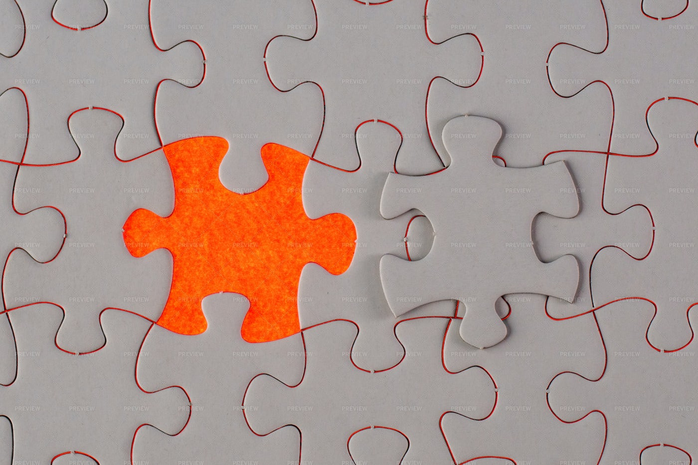 A Missing Jigsaw Puzzle: Stock Photos