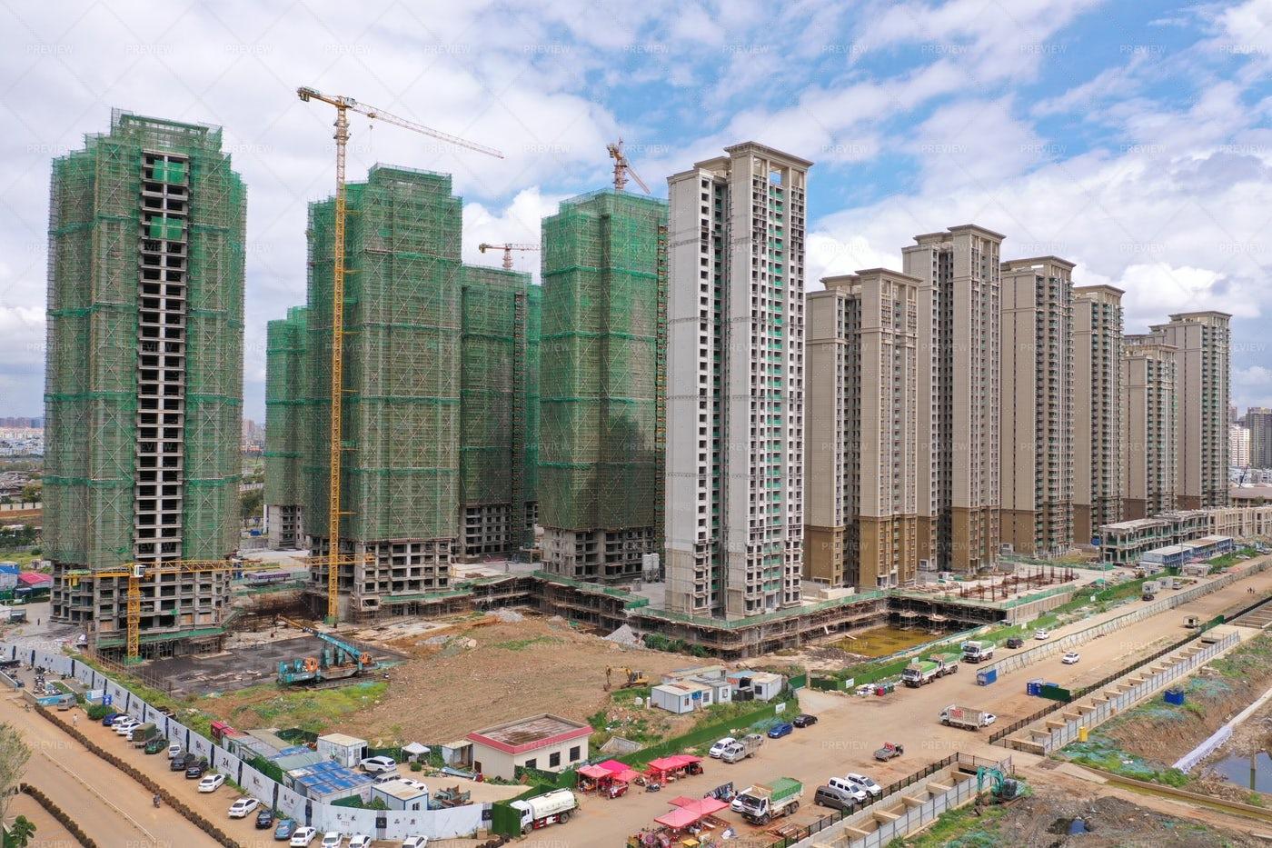 Buildings Under Construction: Stock Photos