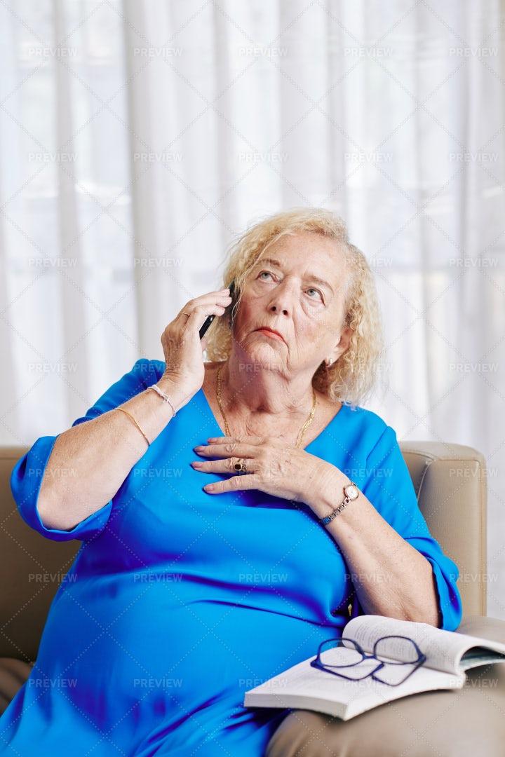 Woman Talking On A Phone: Stock Photos