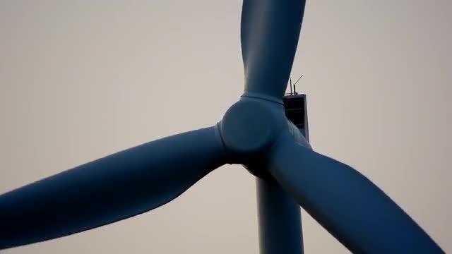 Windmill Energy Blades Closeup: Stock Video