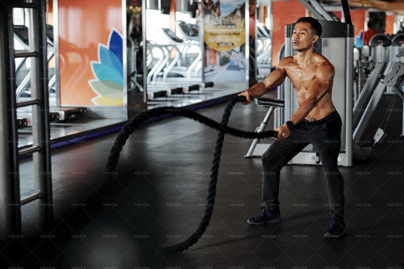 Man Having Functional Training: Stock Photos