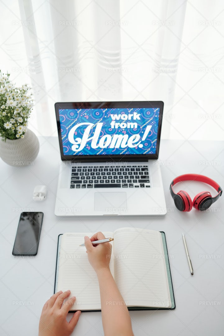 Business Person Working From Home: Stock Photos