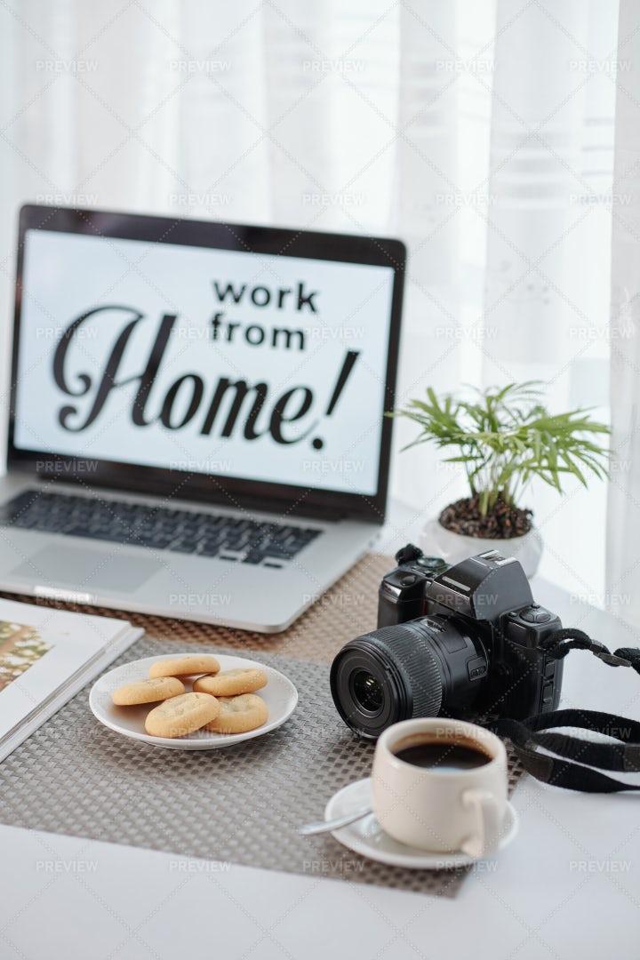 Freelance Photographer's Home Office: Stock Photos