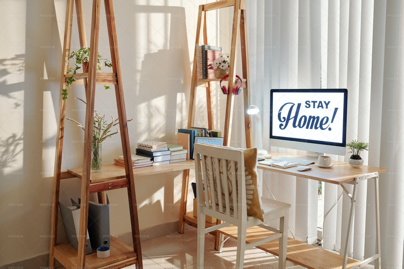 Freelance Home Office Space: Stock Photos