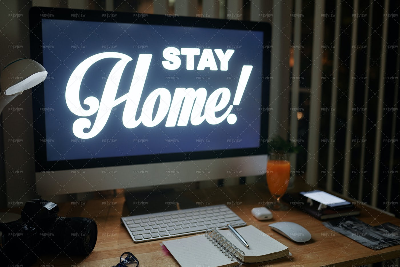 Working From Home Background: Stock Photos