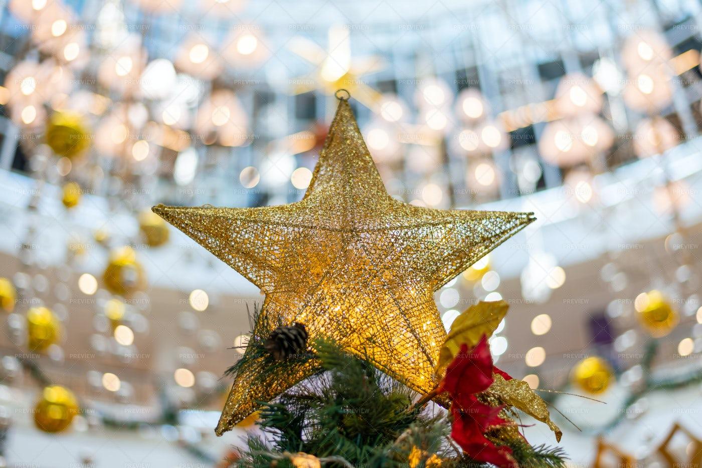 Christmas Tree Star: Stock Photos