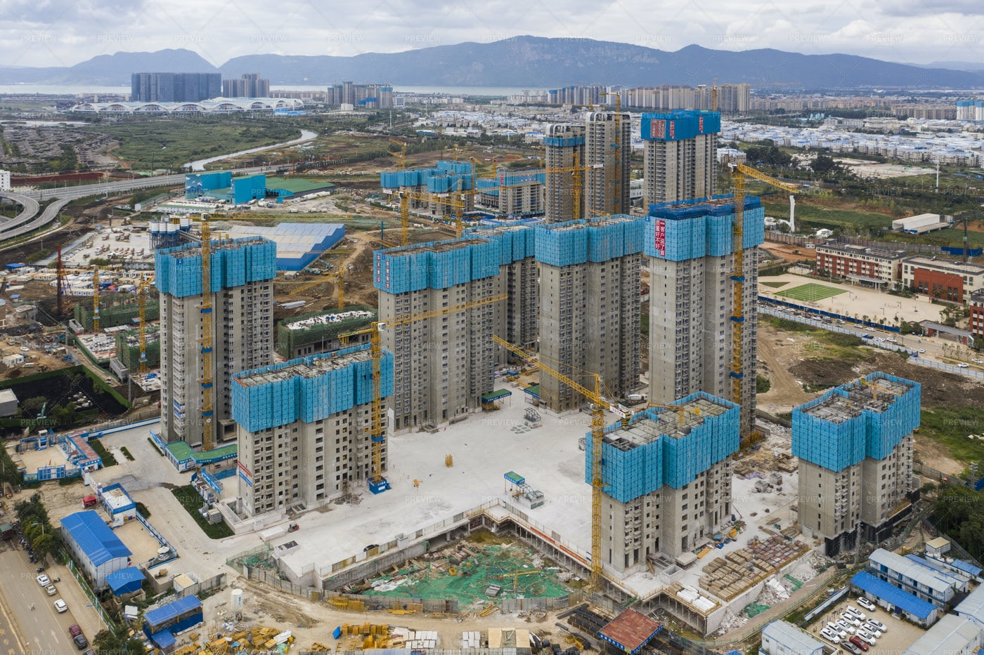 Residential Buildings Under Costruction: Stock Photos