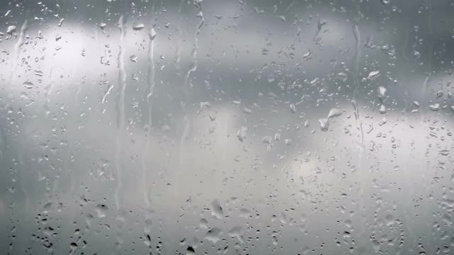 Wet Rainy Window: Stock Video