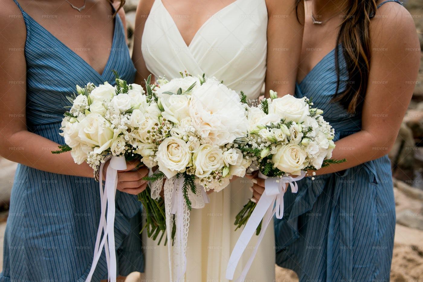 Bridal Party Bouquets: Stock Photos