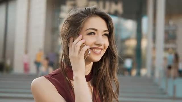 Girl Talking On Phone: Stock Video