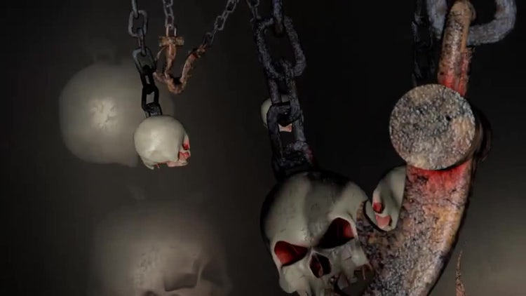 Chains With Skulls and Hooks: Stock Motion Graphics