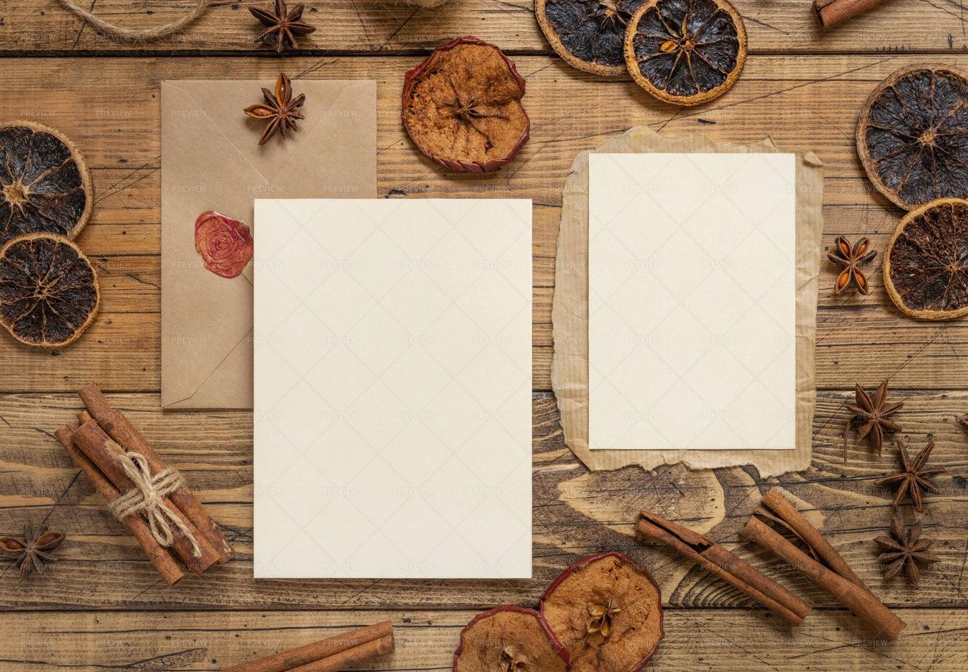 Rustic Christmas Cards: Stock Photos