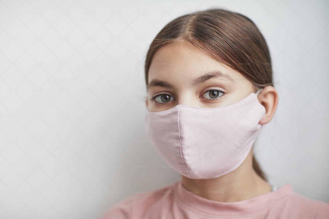 Girl Wearing Mask: Stock Photos