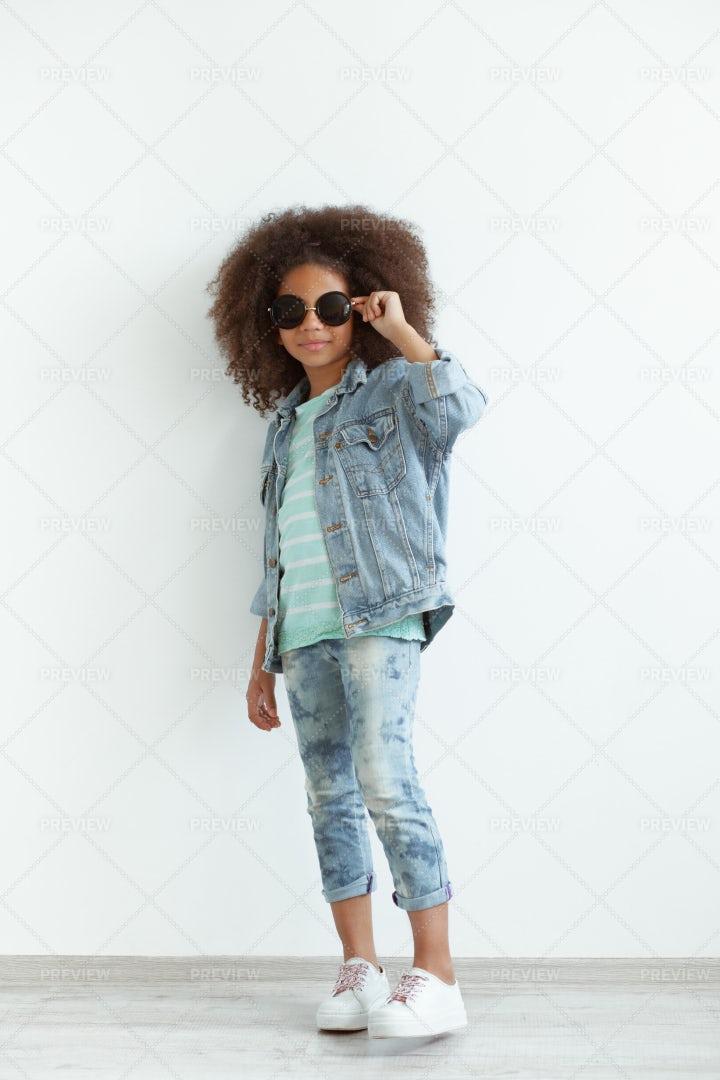 Stylish Little Girl: Stock Photos