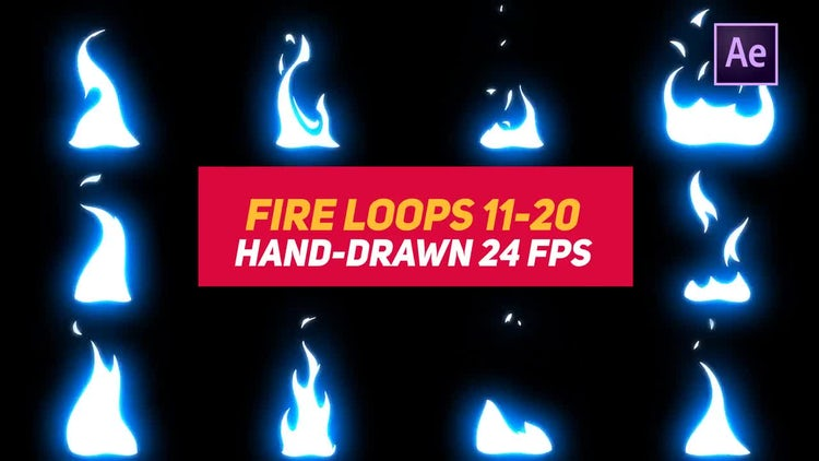 Liquid Elements 3 Fire Loops 11-20: After Effects Templates