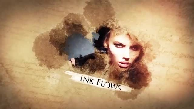 Watercolor Ink Flow Slideshow: After Effects Templates